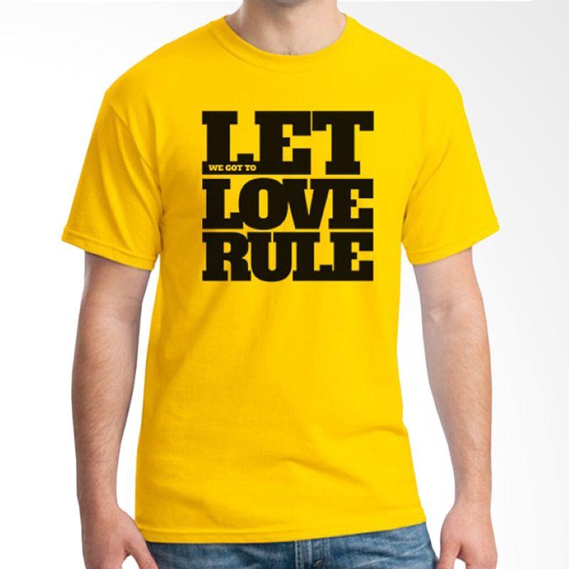 Ordinal Typography Love 02 Kuning Kaos Pria