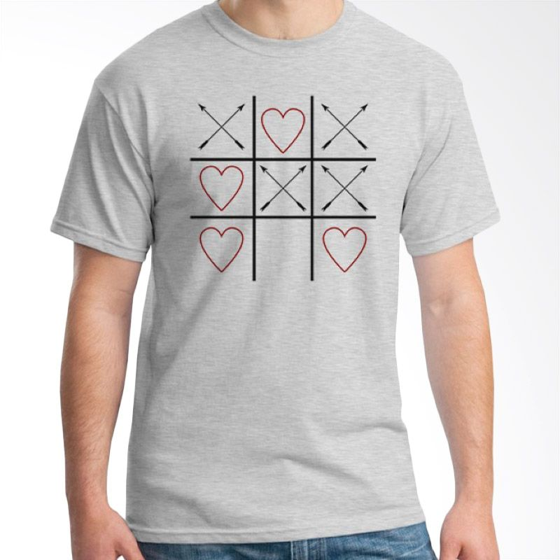Ordinal Typography Love 04 Abu-abu Kaos Pria