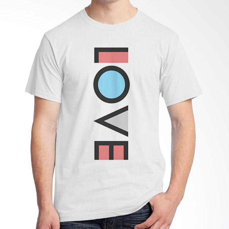 Ordinal Typography Love 08 Putih Kaos Pria