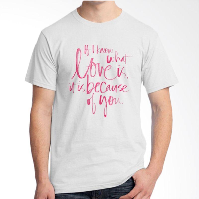 Ordinal Typography Love 12 Putih Kaos Pria