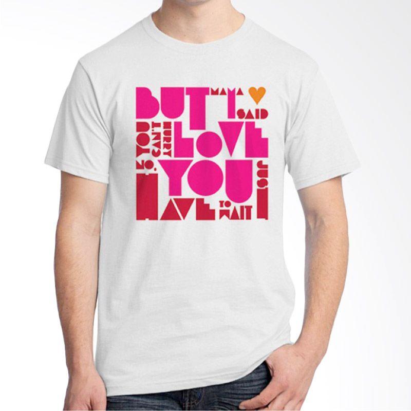 Ordinal Typography Love 17 Putih Kaos Pria