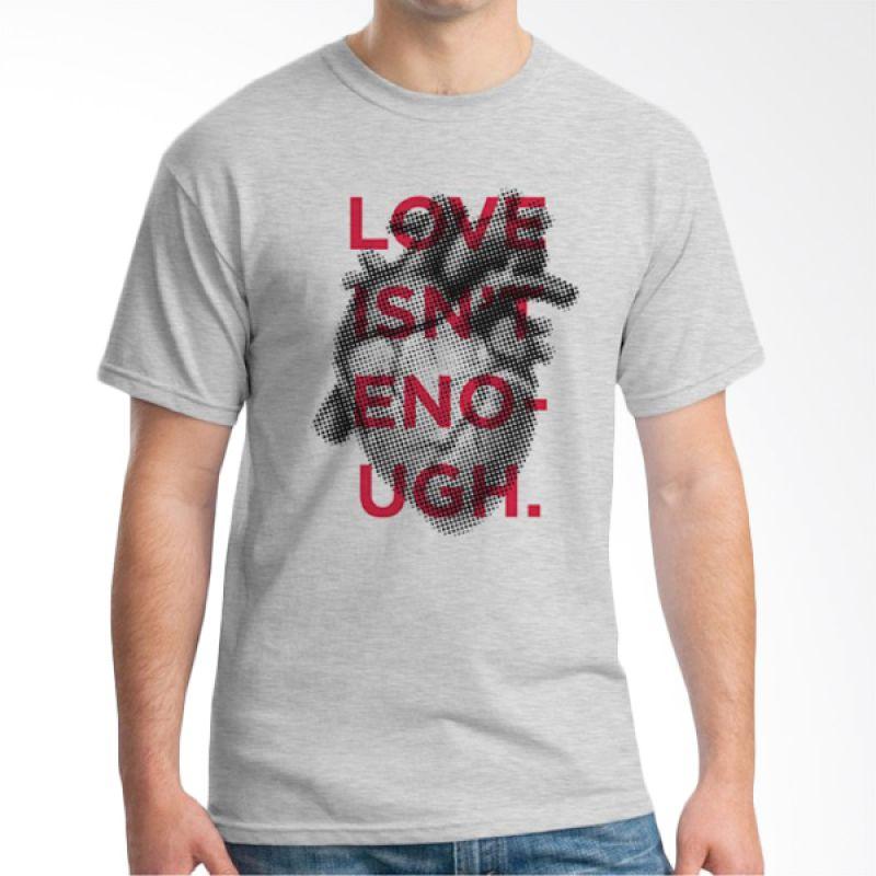 Ordinal Typography Love 22 Abu-abu Kaos Pria