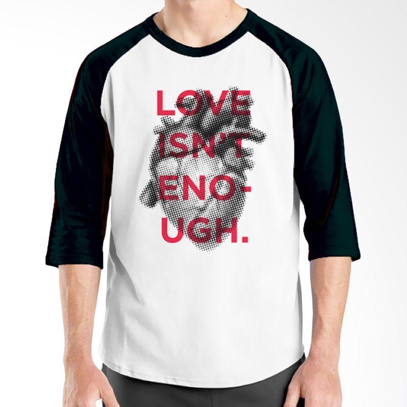 Ordinal Typography Love 22 Raglan Putih Hitam T-Shirt Pria