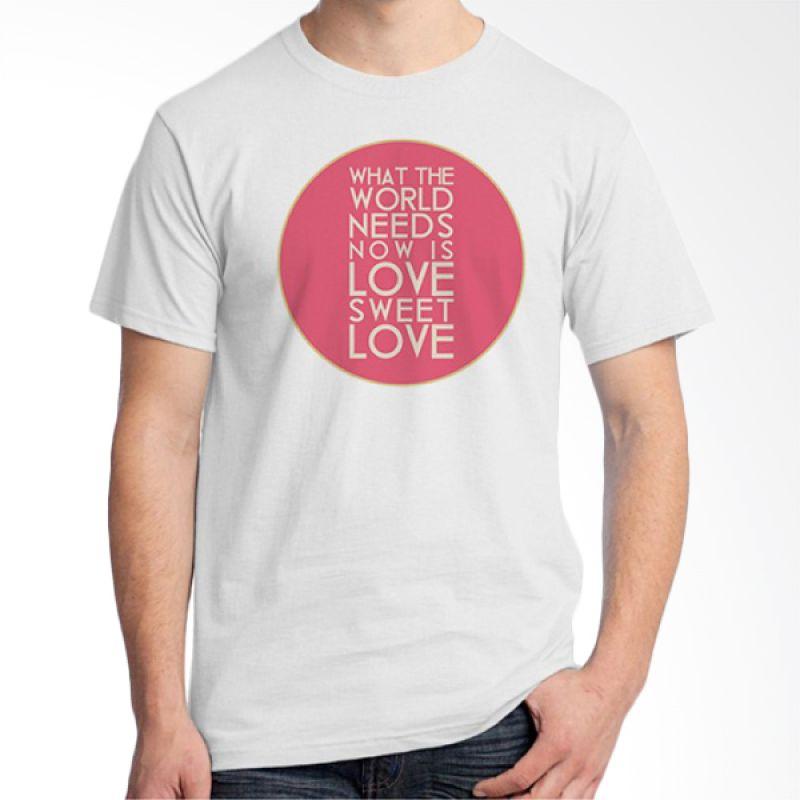 Ordinal Typography Love 26 Putih Kaos Pria