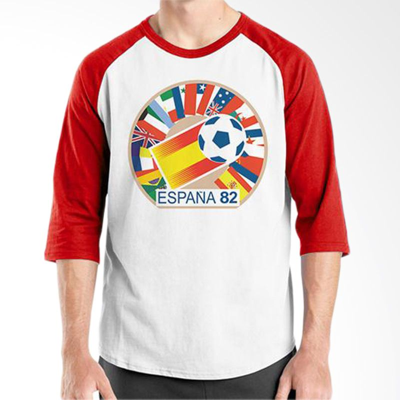 Ordinal Raglan World Cup Classic Edition 06 Merah Putih T-Shirt Pria