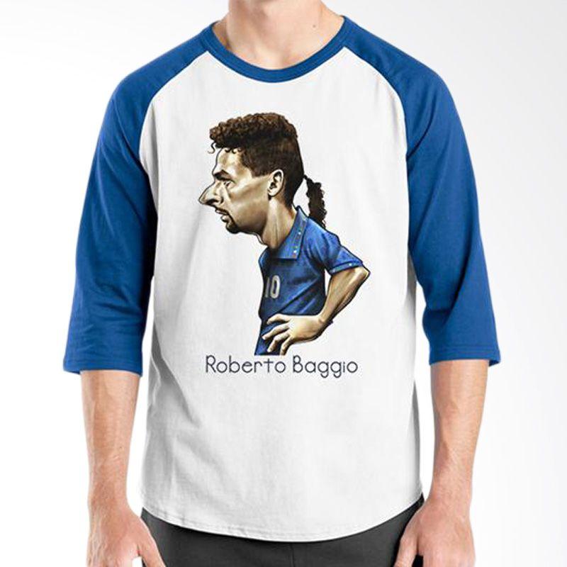 Ordinal Raglan World Cup Classic Edition 16 Biru Putih T-Shirt Pria