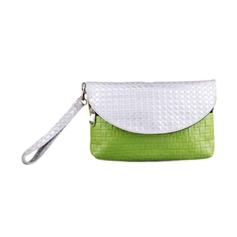Quinta Envelope Anyam Green Dompet Wanita