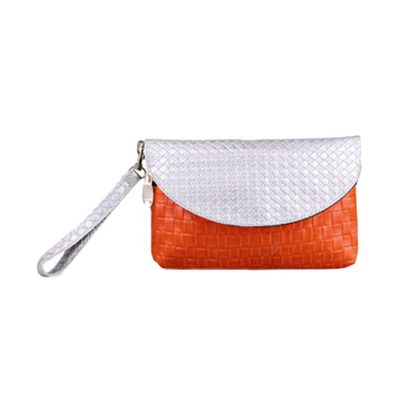 Quinta Envelope Anyam Orange Dompet Wanita