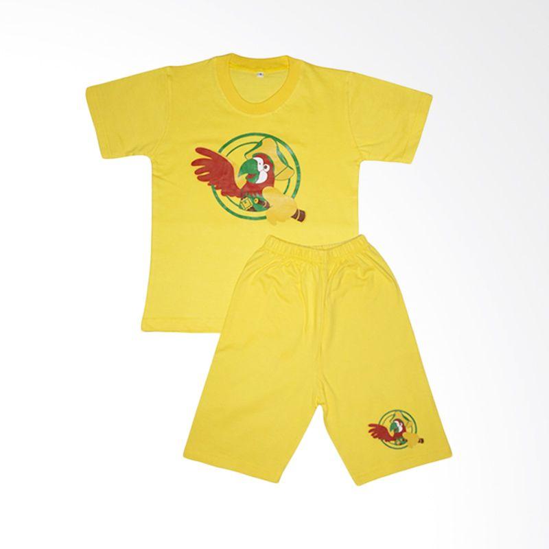 Amaris Kids Tops Baju Bermain STL 001 Yellow Setelan Anak