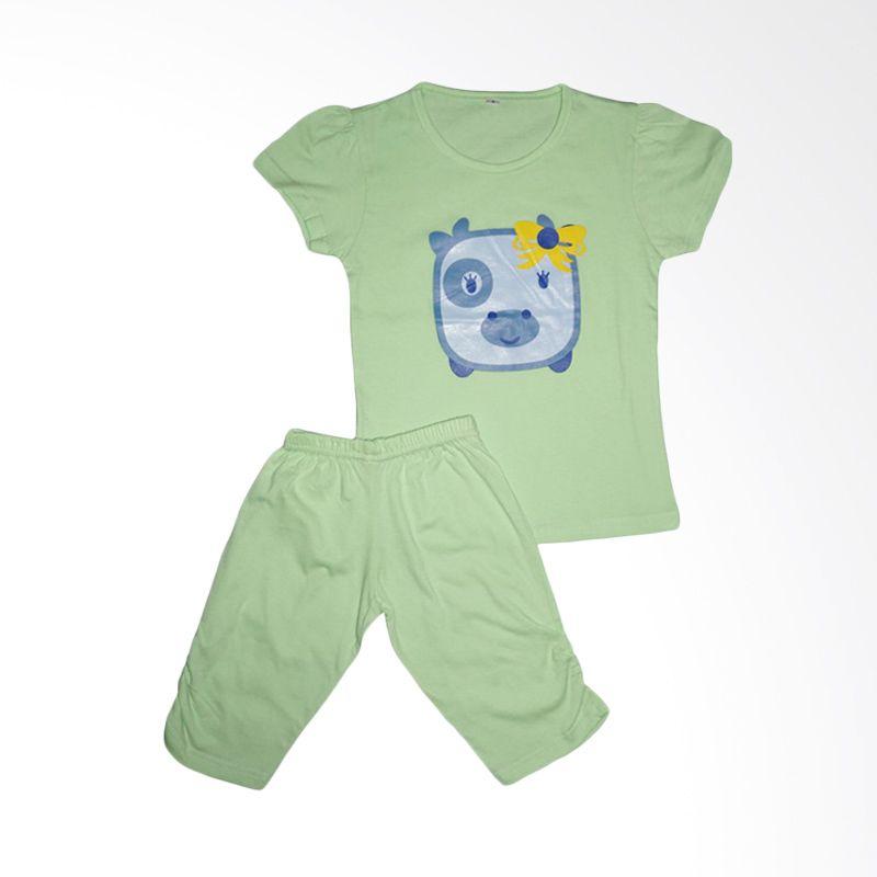 Amaris Kids Tops Baju Bermain STL 006 Soft Green Setelan Anak
