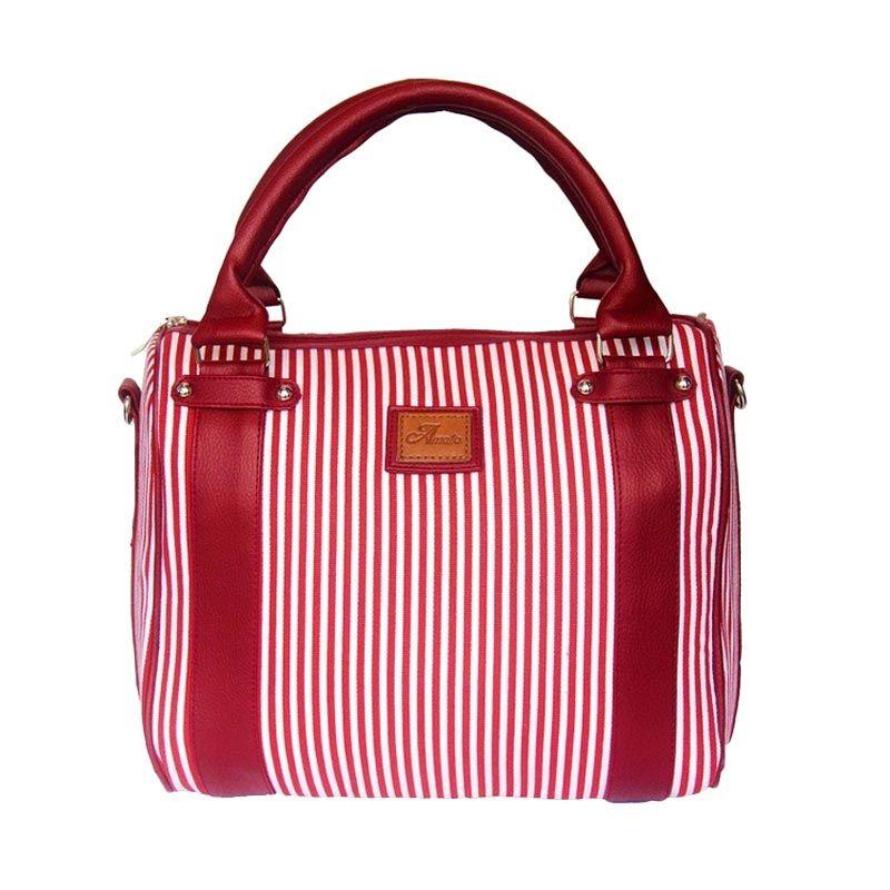 Amato Bag Yumee Vred Limited Canvas Merah Tas Tangan