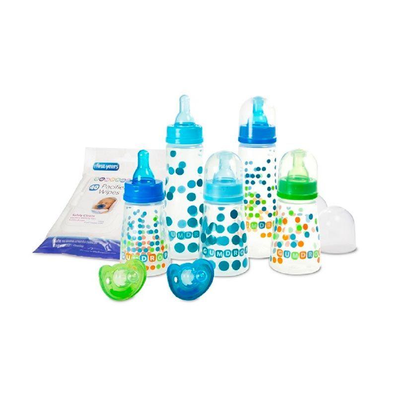 The First Years Gumdrop Y4895 Biru Hijau Set Botol dan Dot Bayi