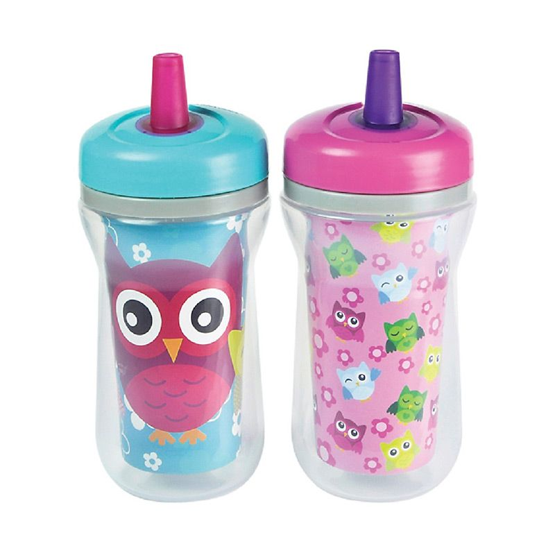The First Years Insulated Straw Cup Y6056 Girls Gelas Bayi [270 ml/2 Pcs]