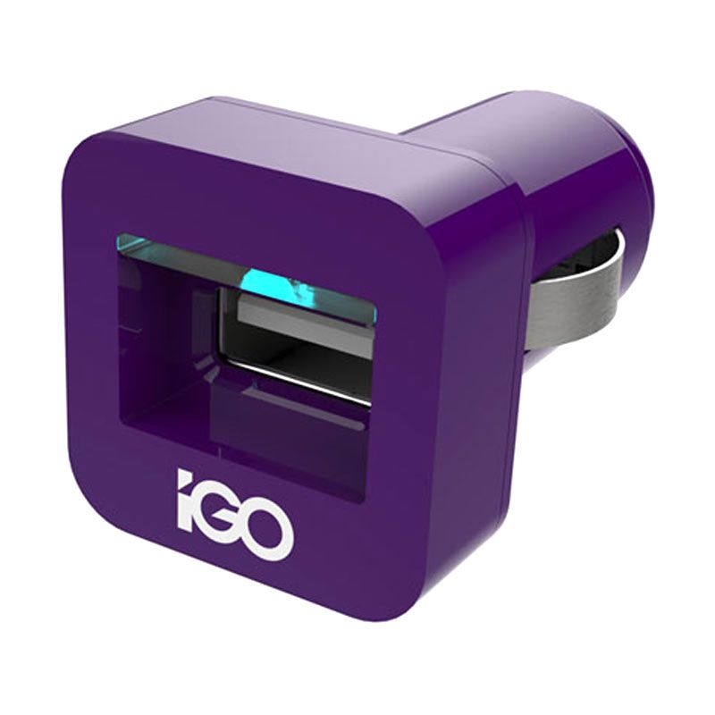 iGO MiniJuice Purple Car Charger [2.1A]