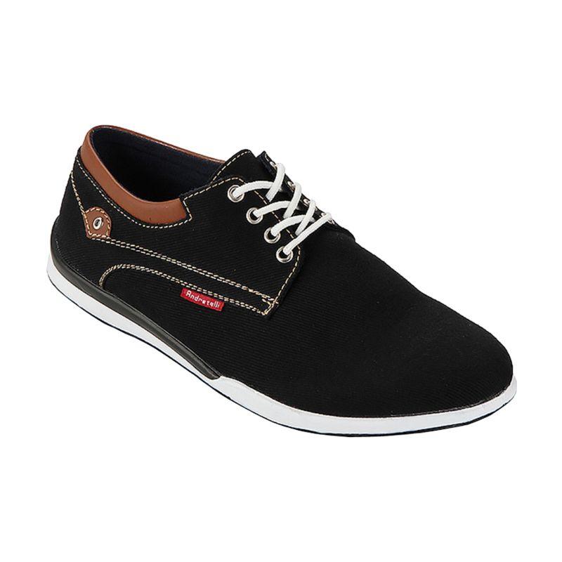 Andretelli Bailey Casual Black Prada Sepatu Pria