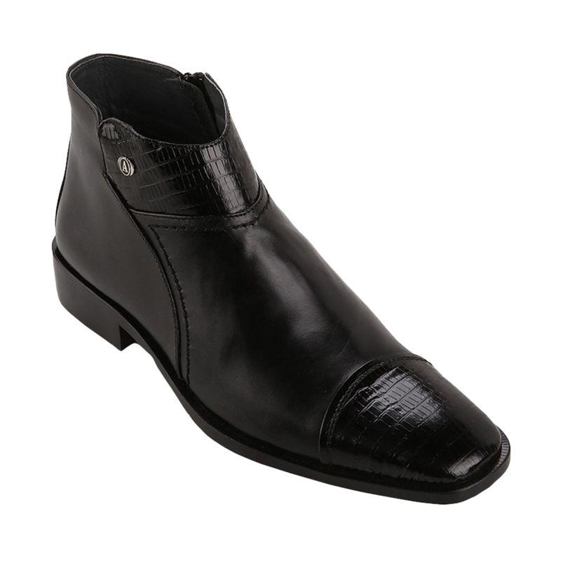 Andretelli Francesco Boots Black Sepatu Pria