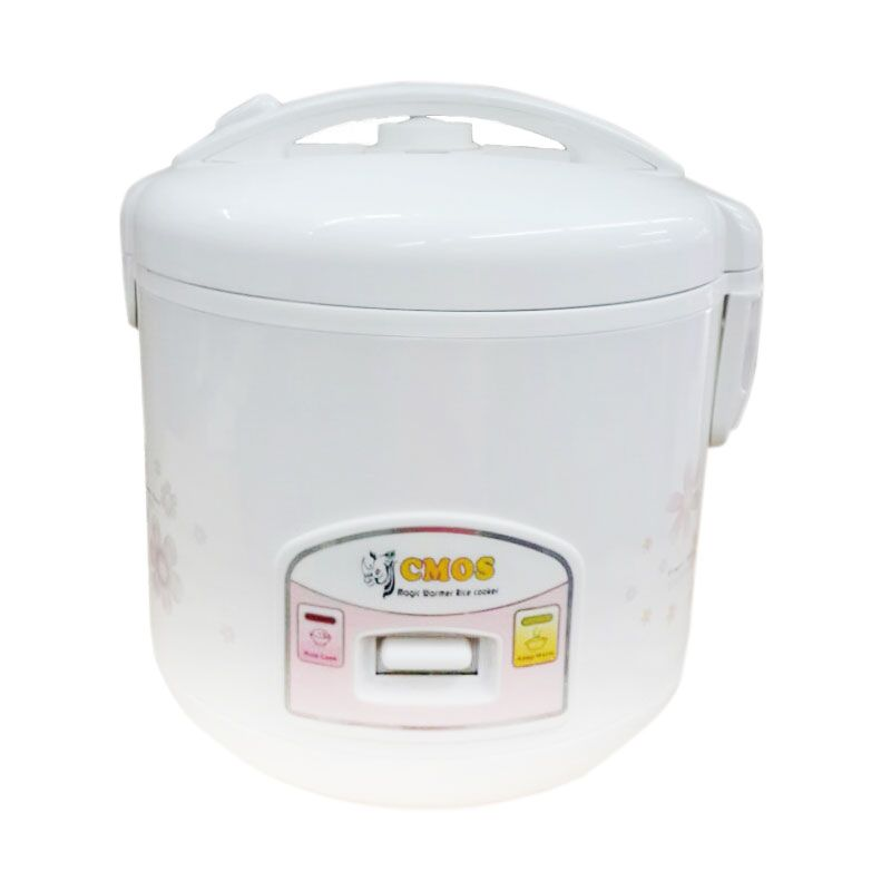 Cmos CR 20 LJ White Pink Rice Cooker [1.2 L]
