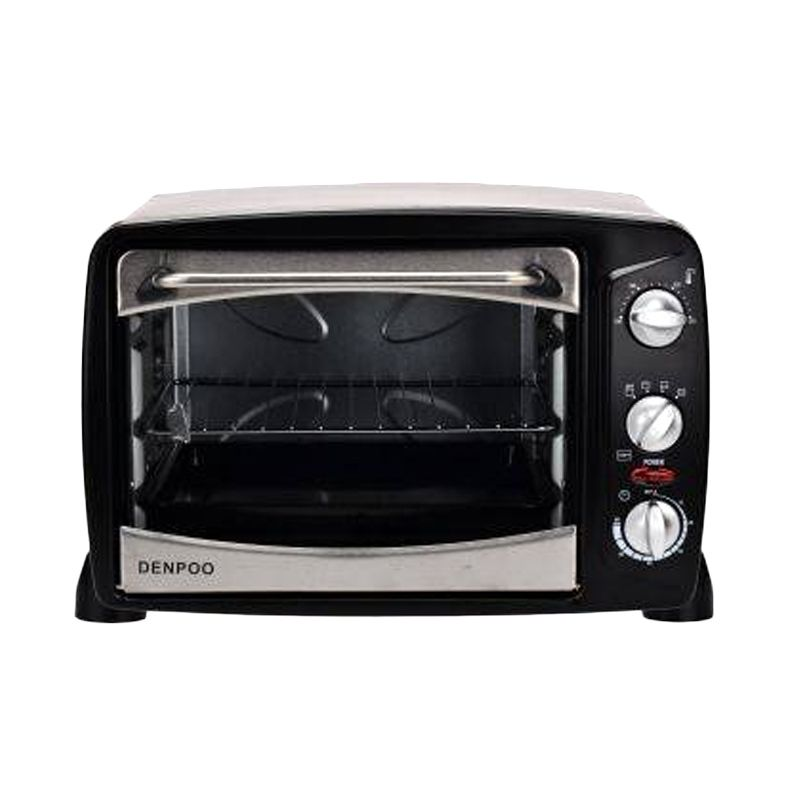 Denpoo DEO 18 T Metal Hitam Oven Listrik [18 Liter]