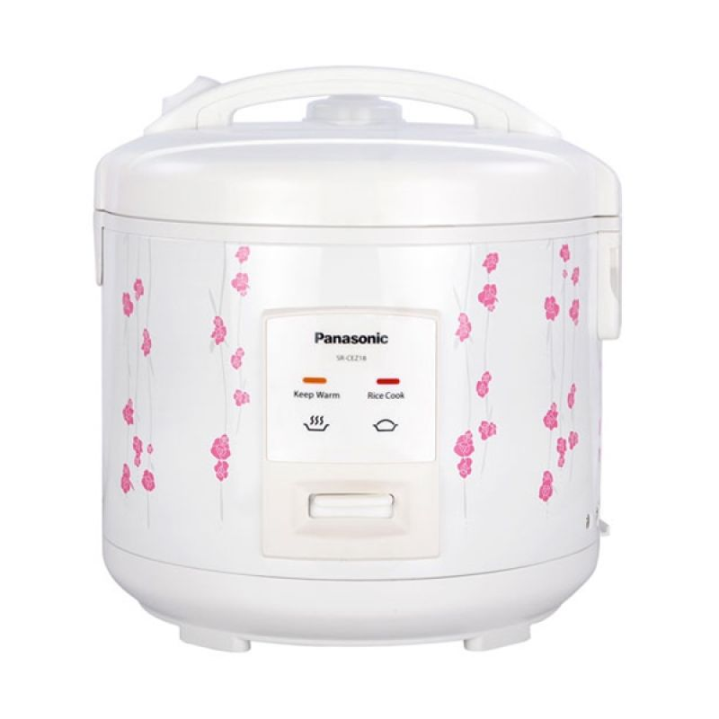 Panasonic Flower Garlands SR-CEZ 18 White Rice Cooker [1.8 L]