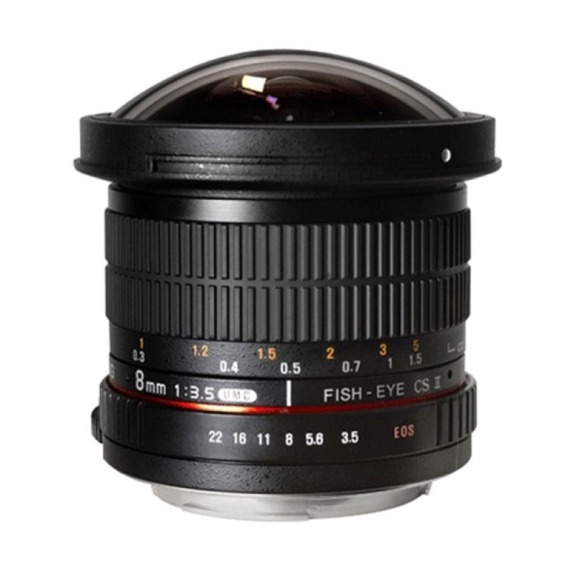 Samyang Lens 8mm f/3.5 Fisheye Decachable Hood for Canon