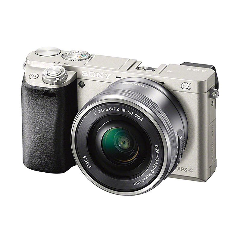 Sony A ILCE 6000L 16-50mm Kit Silver Kamera