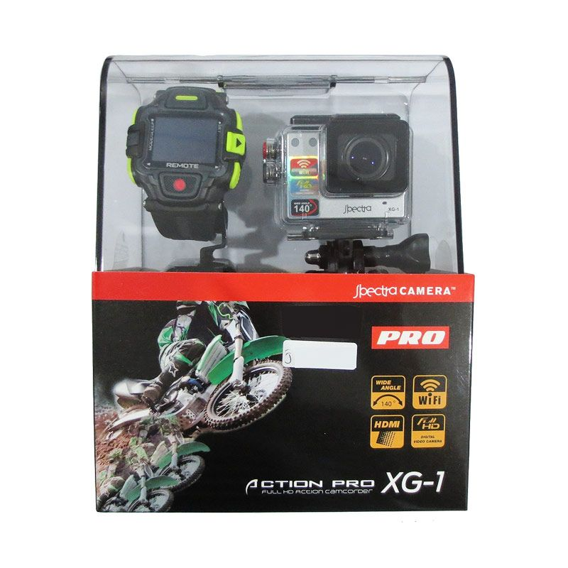 Spectra Pro XG-1 Silver Action Cam + Ultra Micro SDHC Memory Card 8 GB