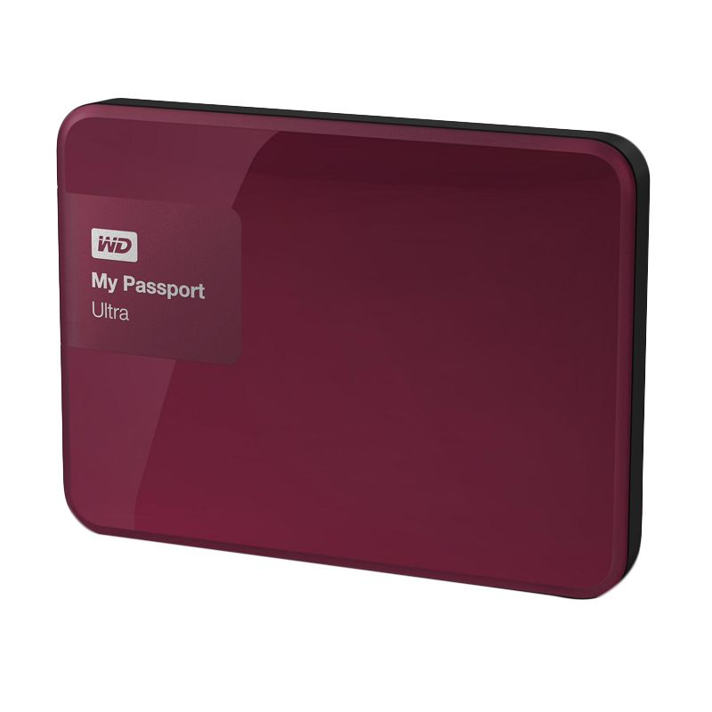 WD My Passport Ultra Premium Red Hard Disk External  [2 TB] + Softcase
