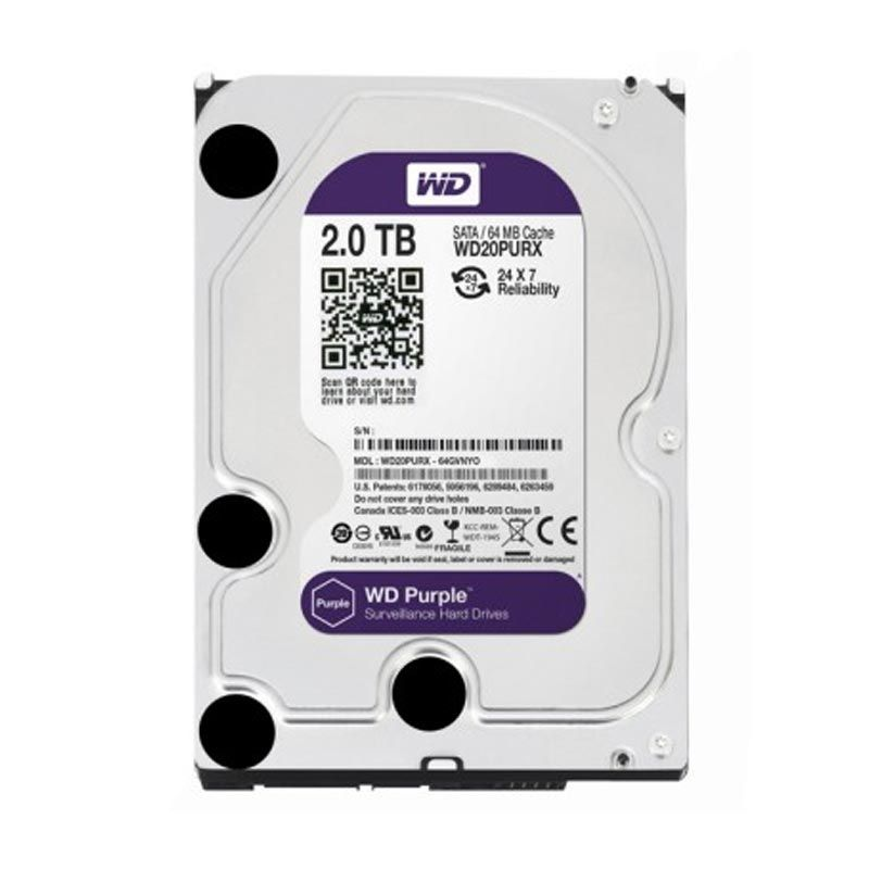 WD Purple Hard Disk CCTV [2 TB/3.5 Inch]