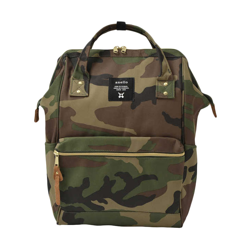 Anello Oxford Backpack Tas Ransel [Size L] - Camouflage