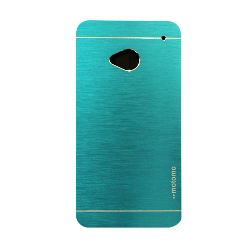 Motomo Metal Case Light Blue Casing for HTC One M7