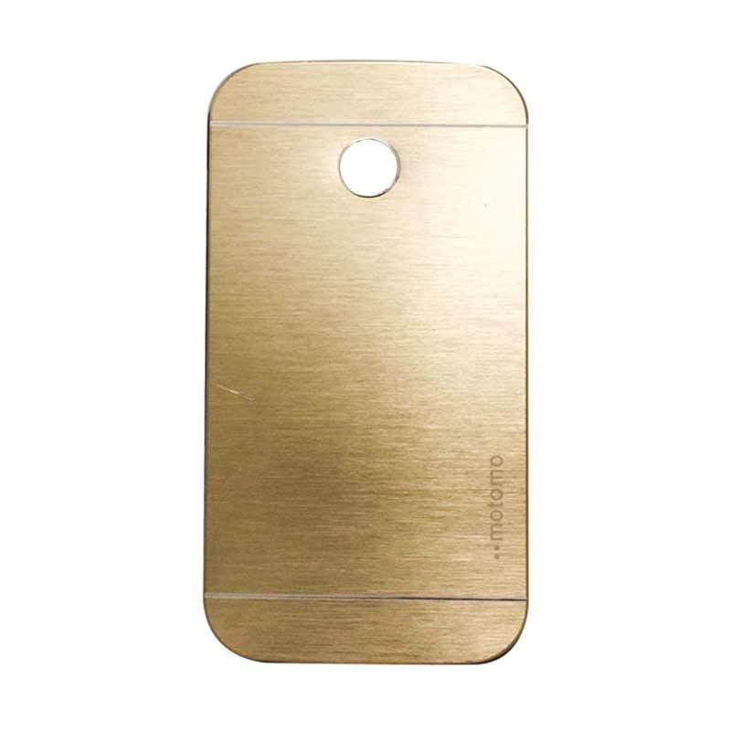 Motomo Metal Gold Casing for Motorola Moto E