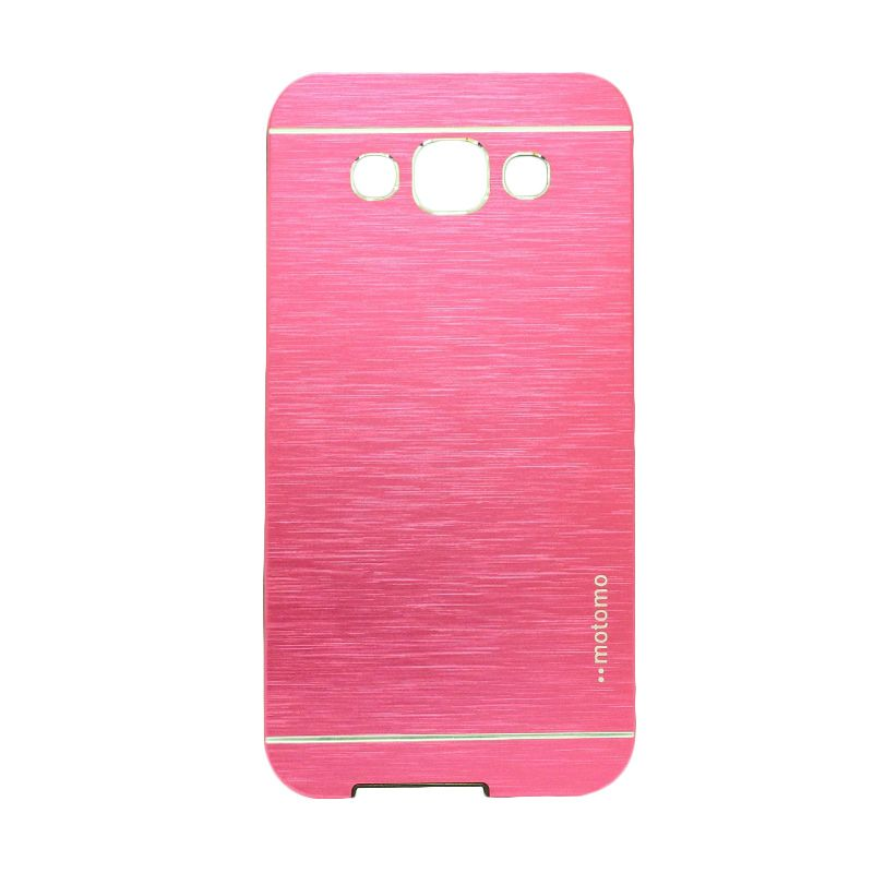 Motomo Metal Hot Pink Casing for Samsung Galaxy E5