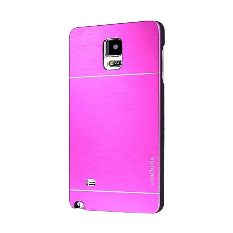 Motomo Metal Hot Pink Casing for Samsung Galaxy Note 4