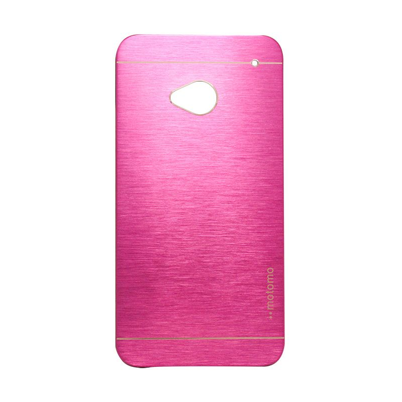Motomo Metal Hot Pink Casing for HTC One M7