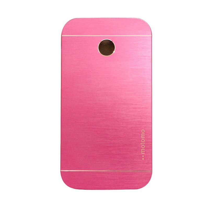 Motomo Metal Hot Pink Casing for Motorola Moto E