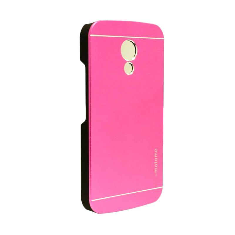 Motomo Metal Hot Pink Casing for Motorola Moto G2