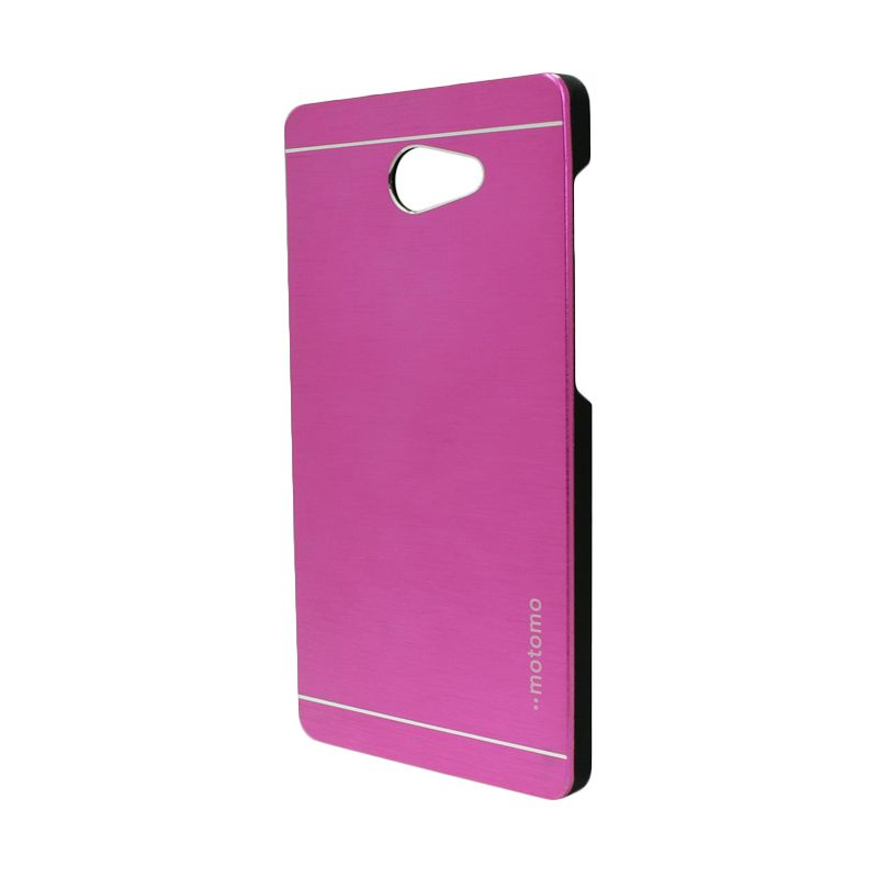 Motomo Metal Hot Pink Casing for Sony Xperia M2