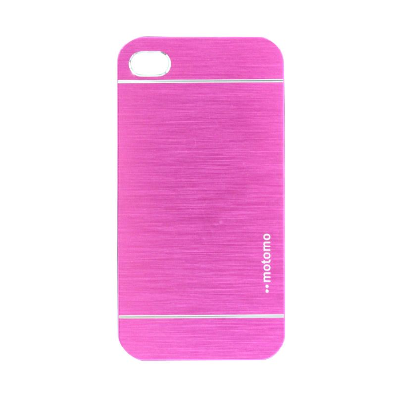 Motomo Metal Hot Pink Casing for iPhone 4 or 4S