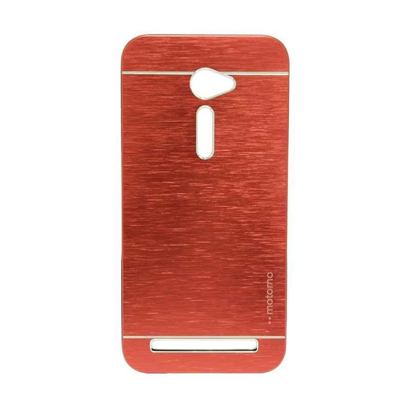 Motomo Metal Red Casing for Asus Zenfone 2 ZE500CL [5 Inch]