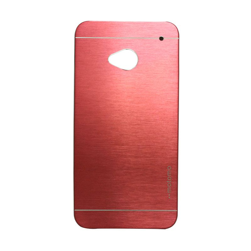 Motomo Metal Red Casing for HTC One M7