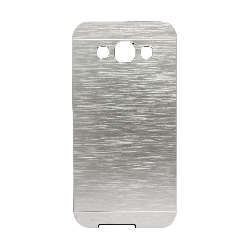 Motomo Metal Silver Casing for Samsung Galaxy E5