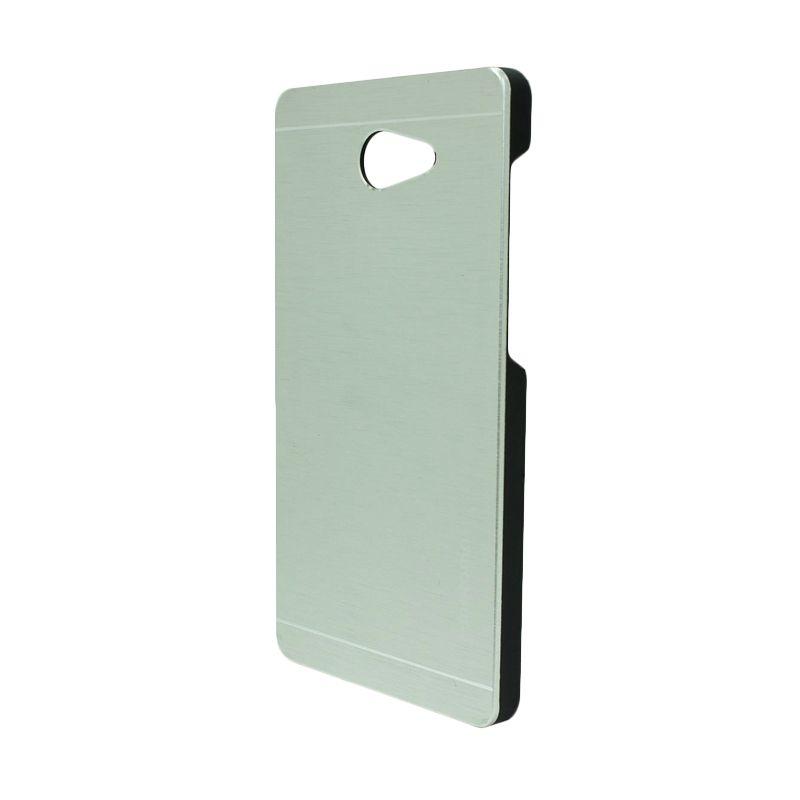 Motomo Metal Silver Casing for Sony Xperia M2