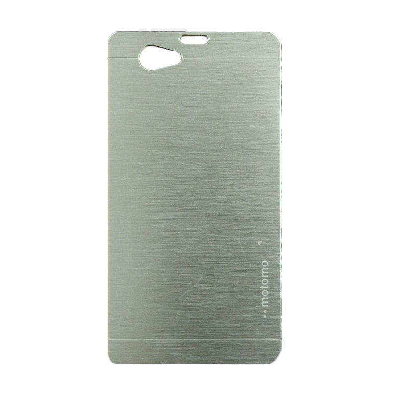 Motomo Metal Silver Casing for Sony Xperia Z1 Mini