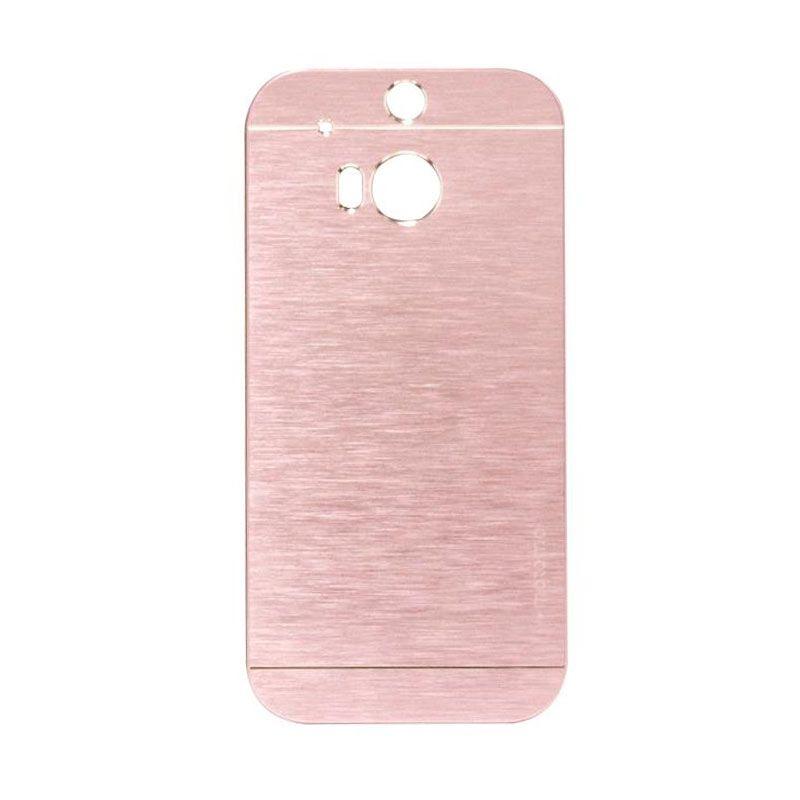 Motomo Metal Soft Pink Casing for HTC One E8