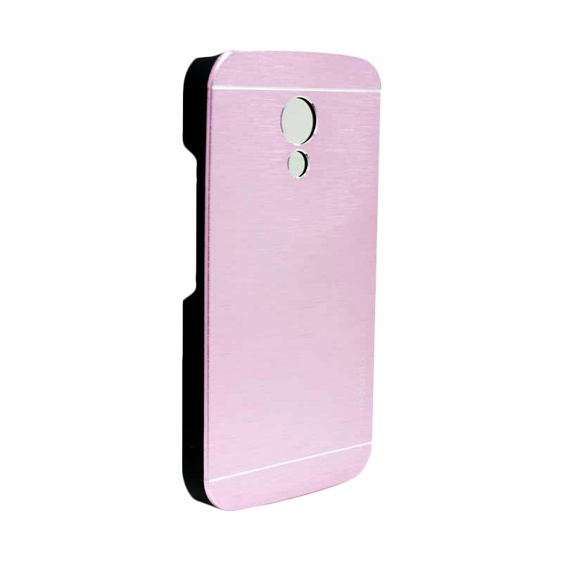 Motomo Metal Soft Pink Casing for Motorola Moto G2