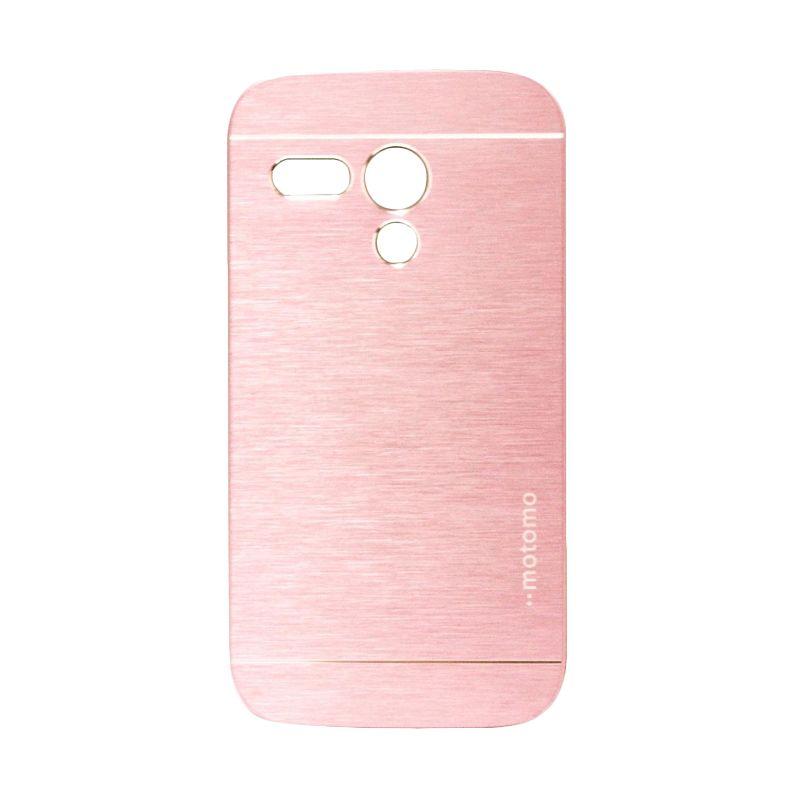 Motomo Metal Soft Pink Casing for Motorola Moto G