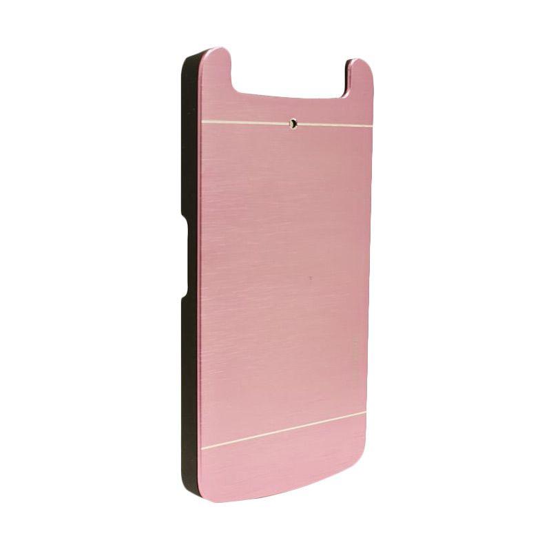 Motomo Metal Soft Pink Casing for Oppo N1 Mini