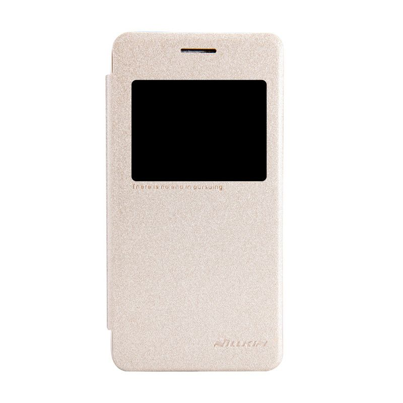 Nillkin Sparkle Leather Gold Casing for Asus Zenfone 4