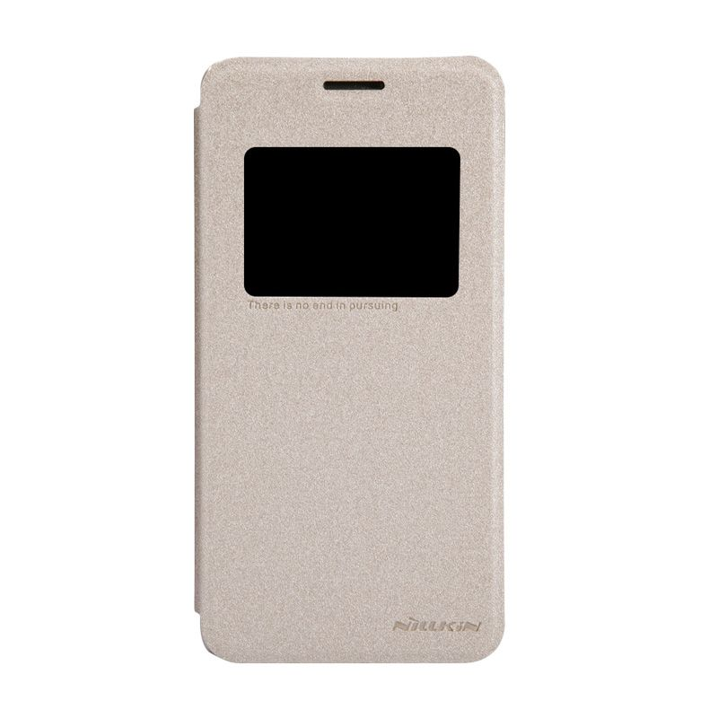 Nillkin Sparkle Leather Gold Casing for Asus Zenfone 5