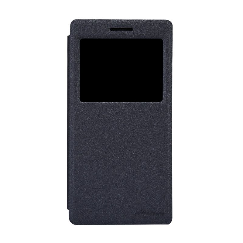 Nillkin Sparkle Leather Hitam Casing for Oppo Find 7